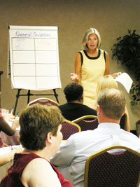 Susan Otto Leading Training Sessions