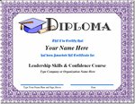 Certificate of Completion for Leadership Confidence Course