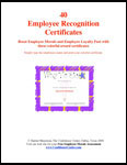 Recognition Certificates eBook